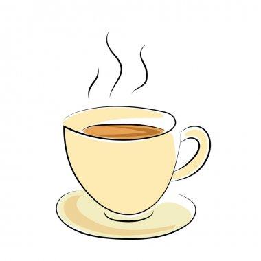 Coffee Cup Sketchy Colored Vector Icon