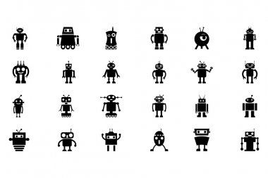 Robots Vector Icons 3