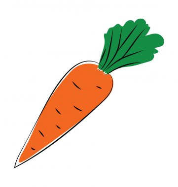 Carrot Hand Drawn Vector Icon