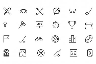 Sports Outline Vector Icons 2