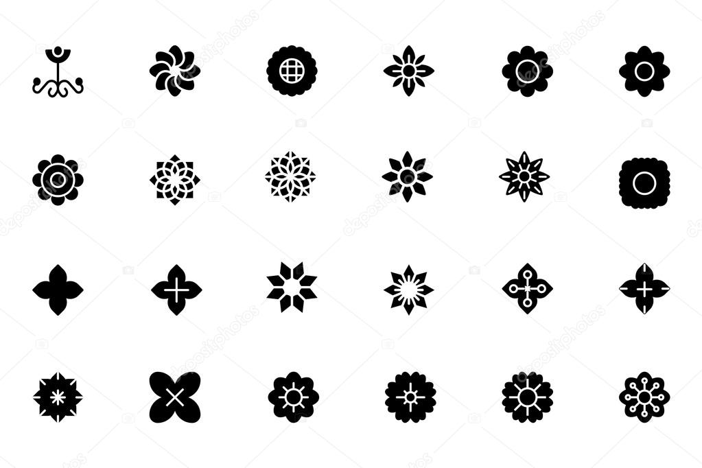 Flowers and Floral Vector Icons 2