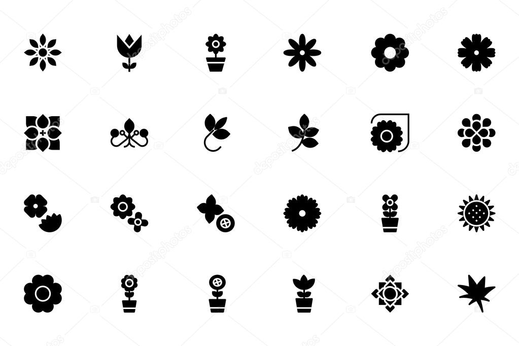 Flowers and Floral Vector Icons 3