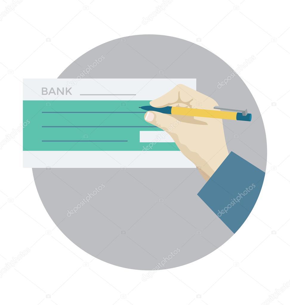 Cheque Vector Icon