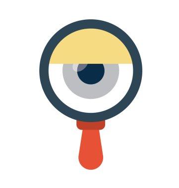 Eye Search Vector Icon
