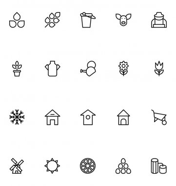 Agriculture Line Vector Icons 1