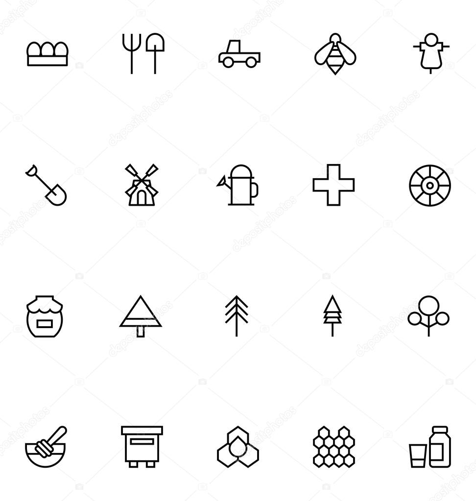 Agriculture Line Vector Icons 3
