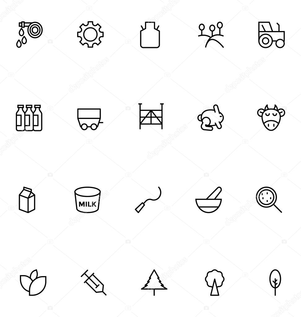Agriculture Line Vector Icons 5