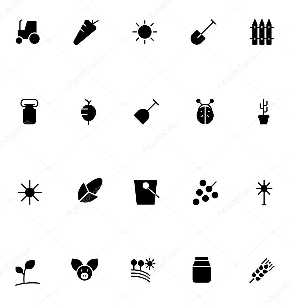 Agriculture Vector Icons 2