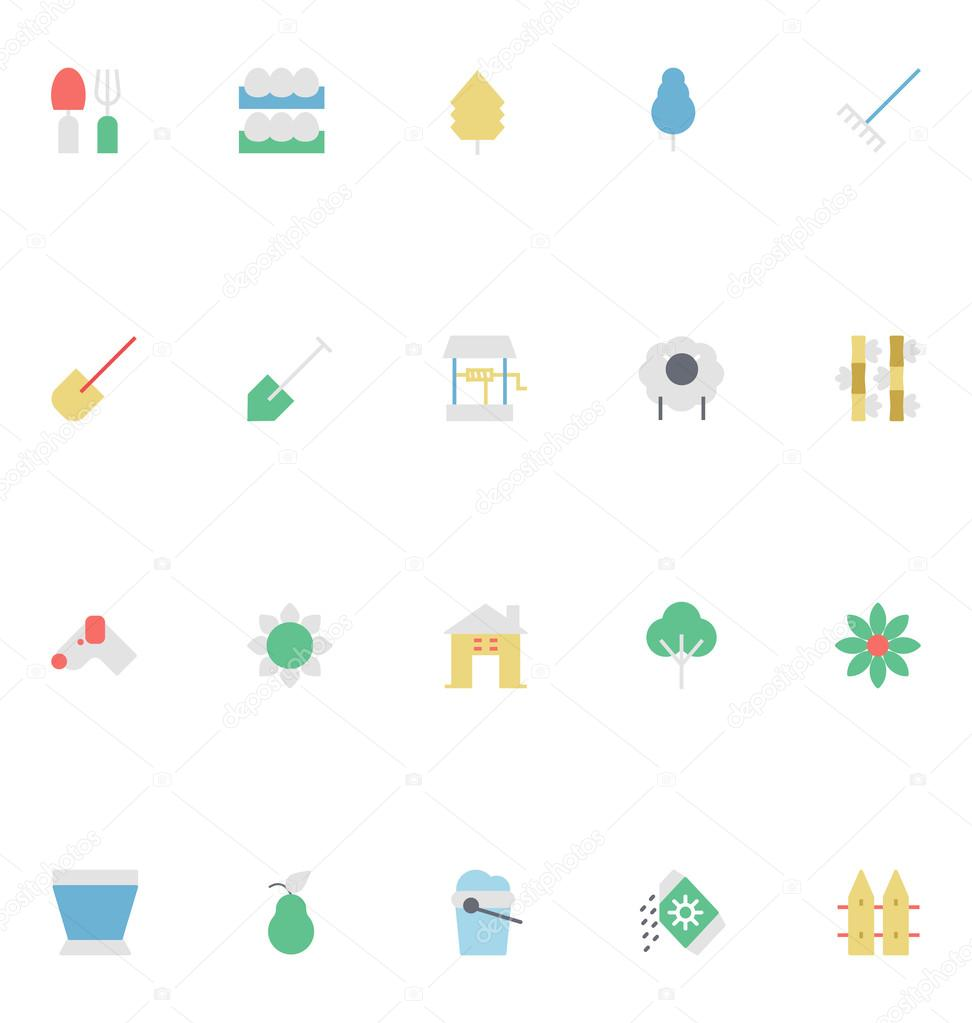 Agriculture Colored Vector Icons 4