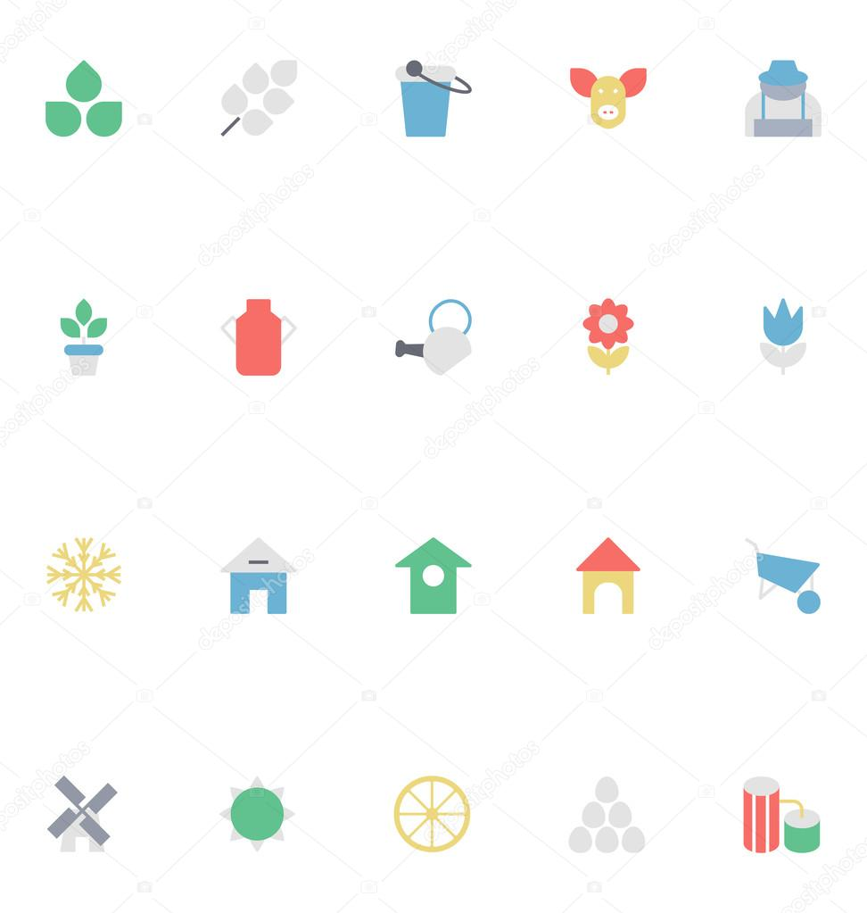 Agriculture Colored Vector Icons 1