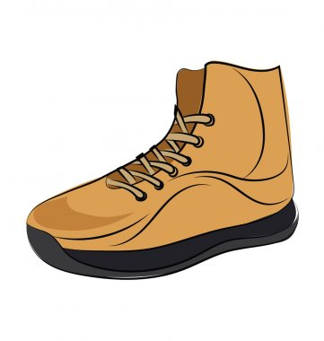 Sneaker Colored Sketchy Vector Icon