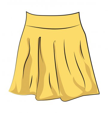 Skirt Colored Sketchy Vector Icon