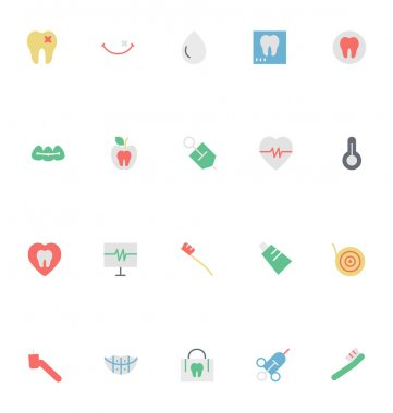 Dental Colored Vector Icons 4