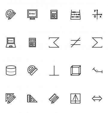 Mathematics Vector Icons 4