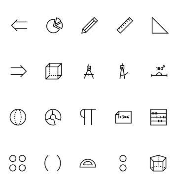 Mathematics Vector Icons 3