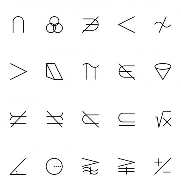 Mathematics Vector Icons 5