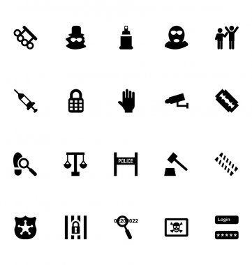 Crime Vector Icons 4