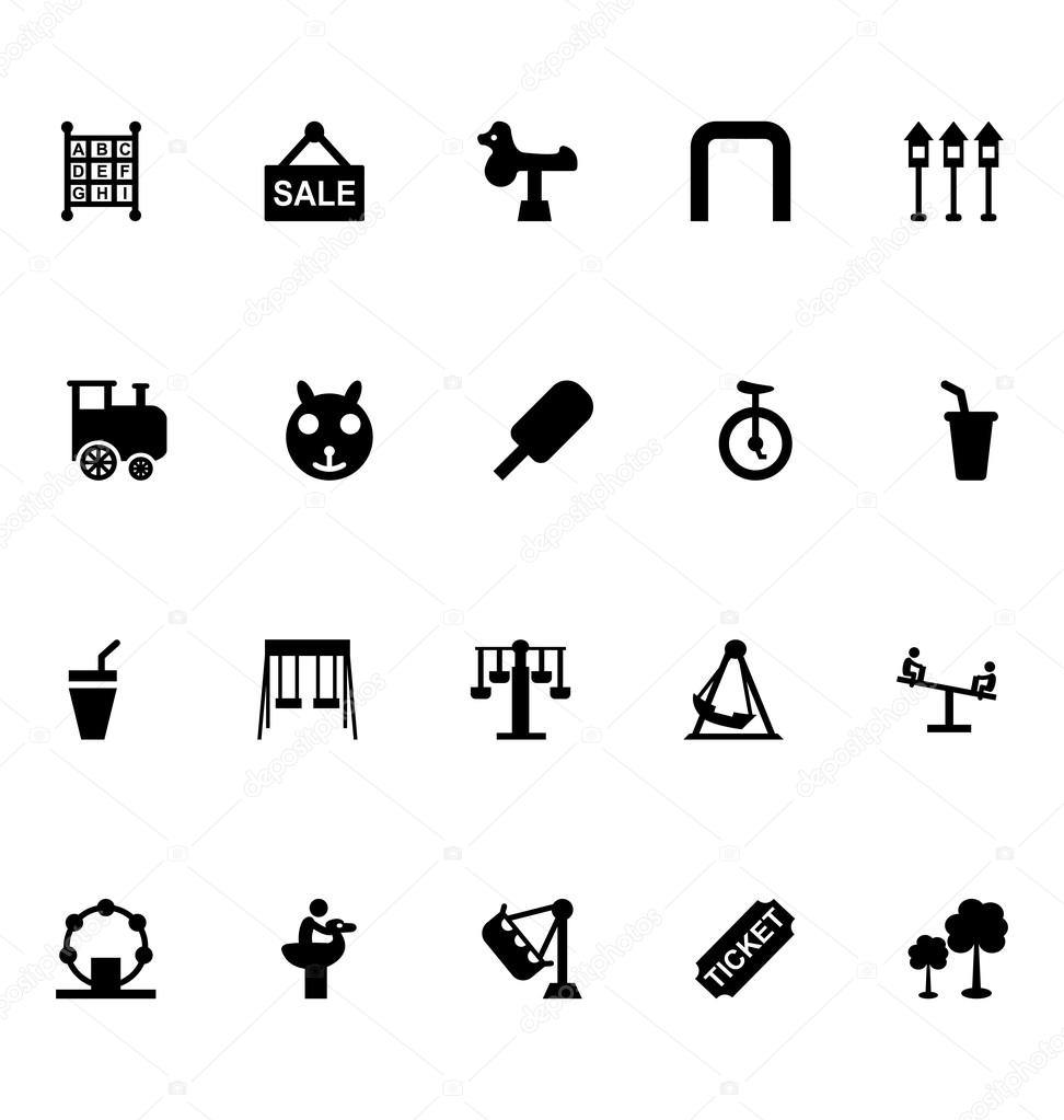 Amusement Park Vector Icons 5