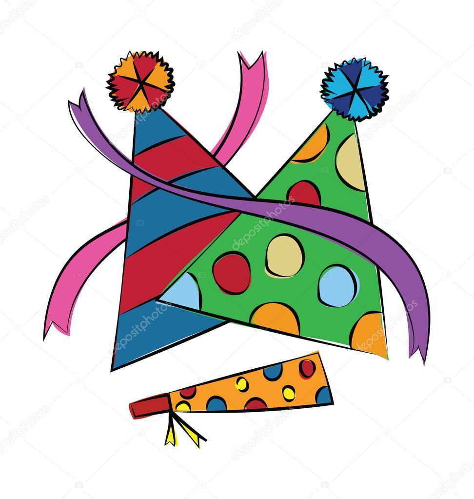 Cappellini festa colorata vettore icona — Vettoriali Stock ... 19a3241055ce