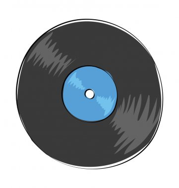 Vinyl Colored Vector Icon