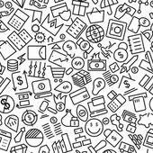 Peníze bezešvé ruky nakreslené čáry ikony vzor