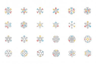 Gorgeous snowflake icons with a lot of detail. Great for use in all your Christmas and winter projects. Use it to transform any website or blog for the holiday season. clip art vector