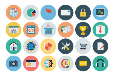Flat SEO and Marketing Icons 3