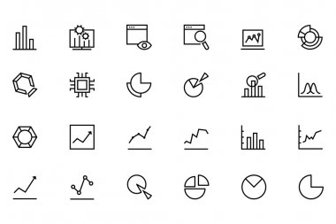 Data Analytics Line Vector Icons 1