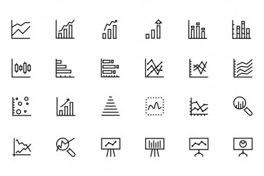 Data Analytics Line Vector Icons 2