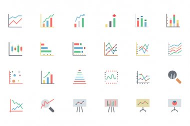 Data Analytics Colored Vector Icons 2