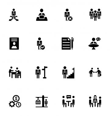 Staff Management Vector Icons 4