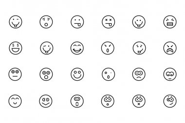 Smiley Line Vector Icons 2