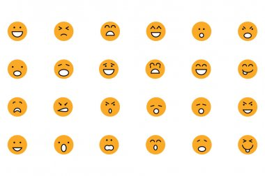 Smiley Colored Vector Icons 1