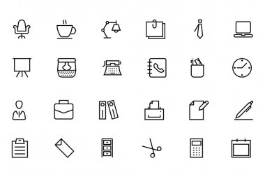Office Line Vector Icons 1
