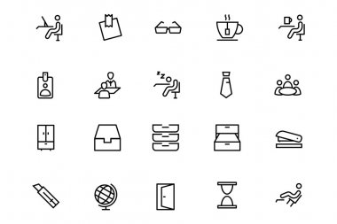 Office Line Vector Icons 4
