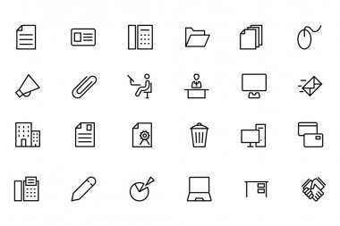 Office Line Vector Icons 2