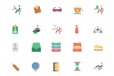 Flat Office Vector Icons 4