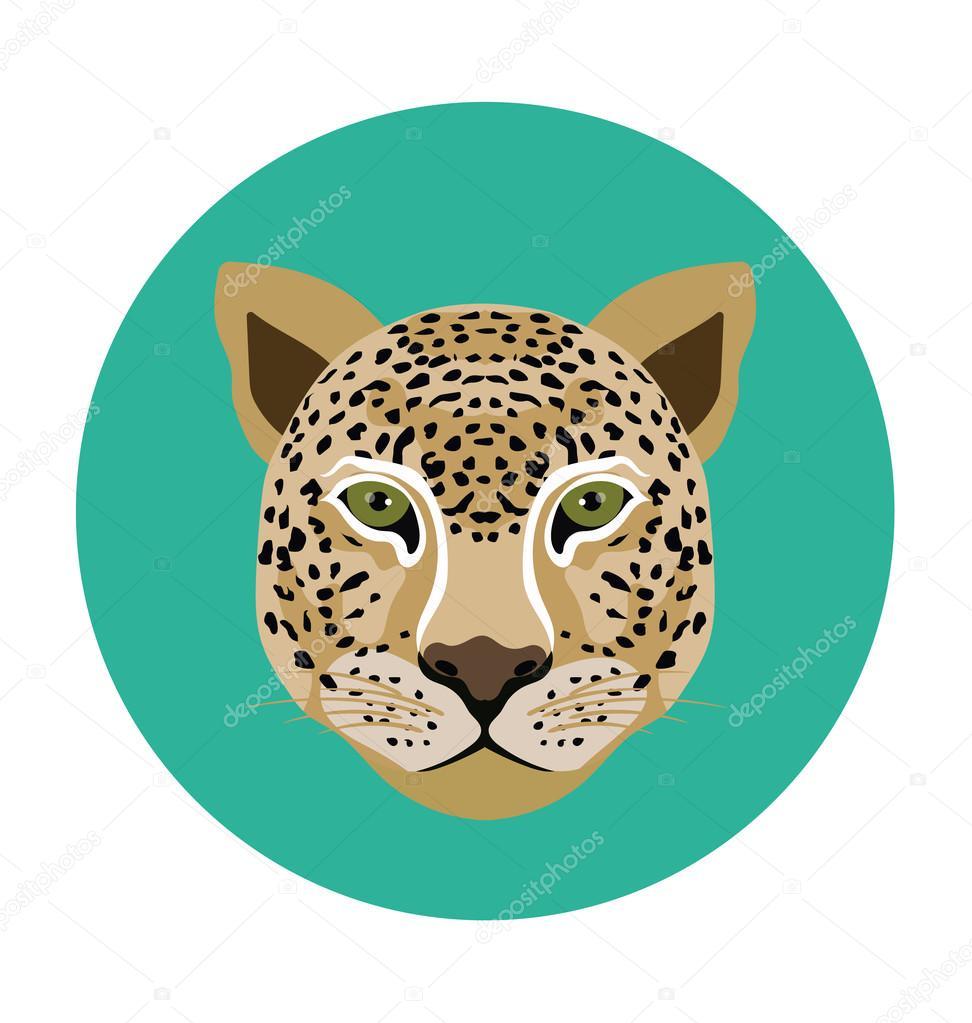 Tiger Flat Icon Illustration