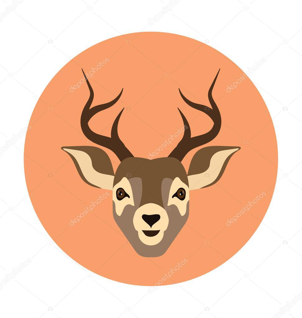 Reindeer Head Bold Vector Icon