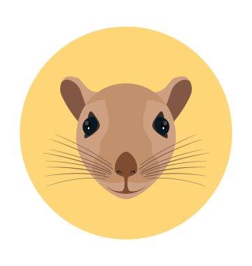 Rat Flat Icon Illustration
