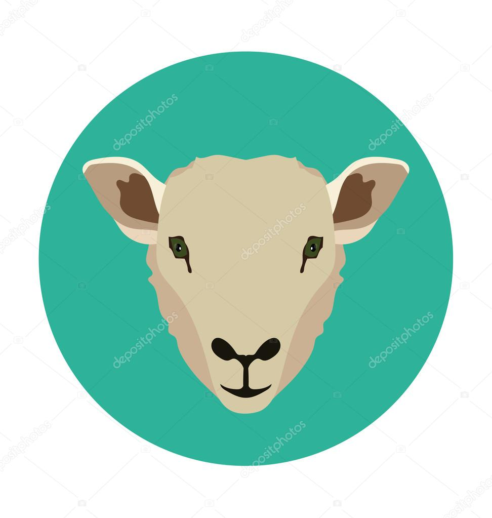 Lamb  Flat Icon Illustration