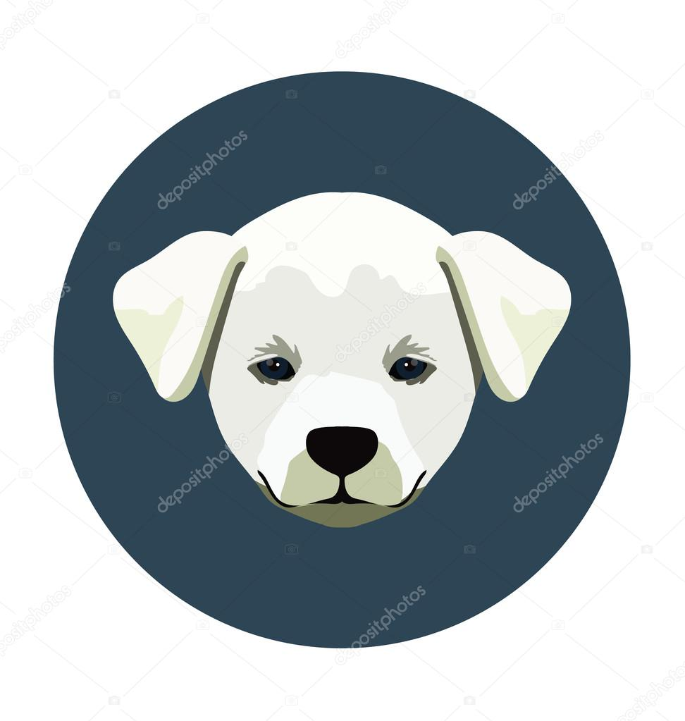 Puppy Flat Icon Illustration