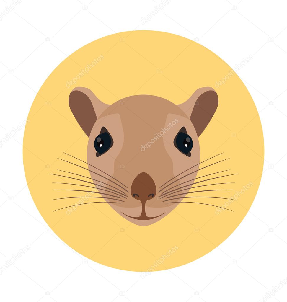 Rat Flat Icon Illustration