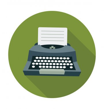 Typewriter Colored Vector Illustration