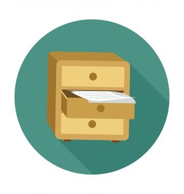 Drawer Colored Vector Illustration
