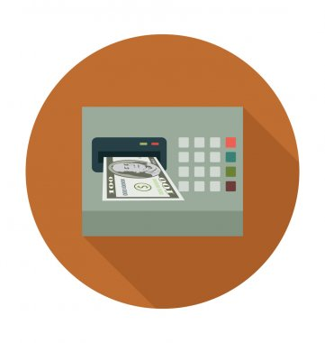 ATM Colored Vector Illustration