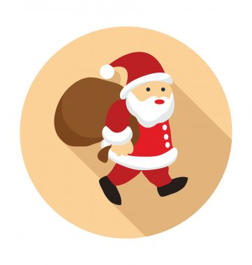 Santa Claus Colored Vector Icon