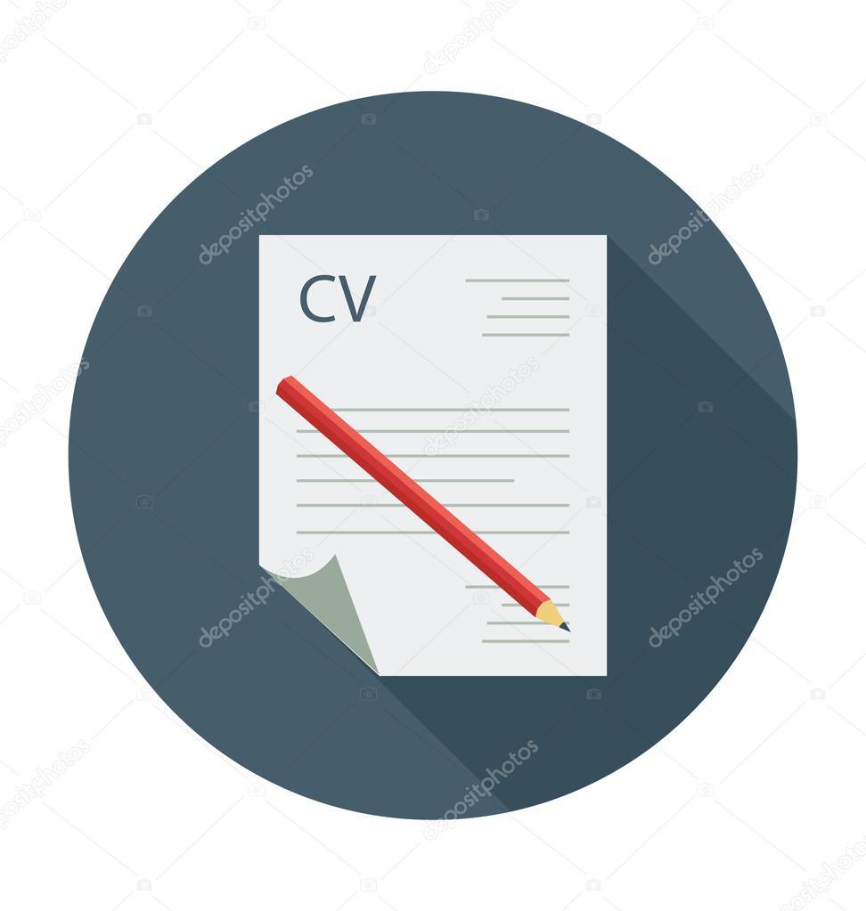 Resume Colored Vector Illustration