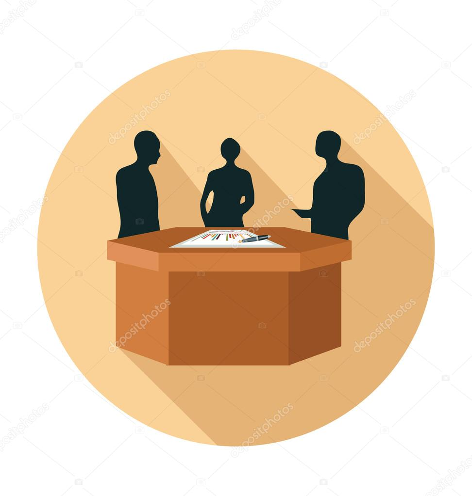 Meeting Colored Vector Illustration