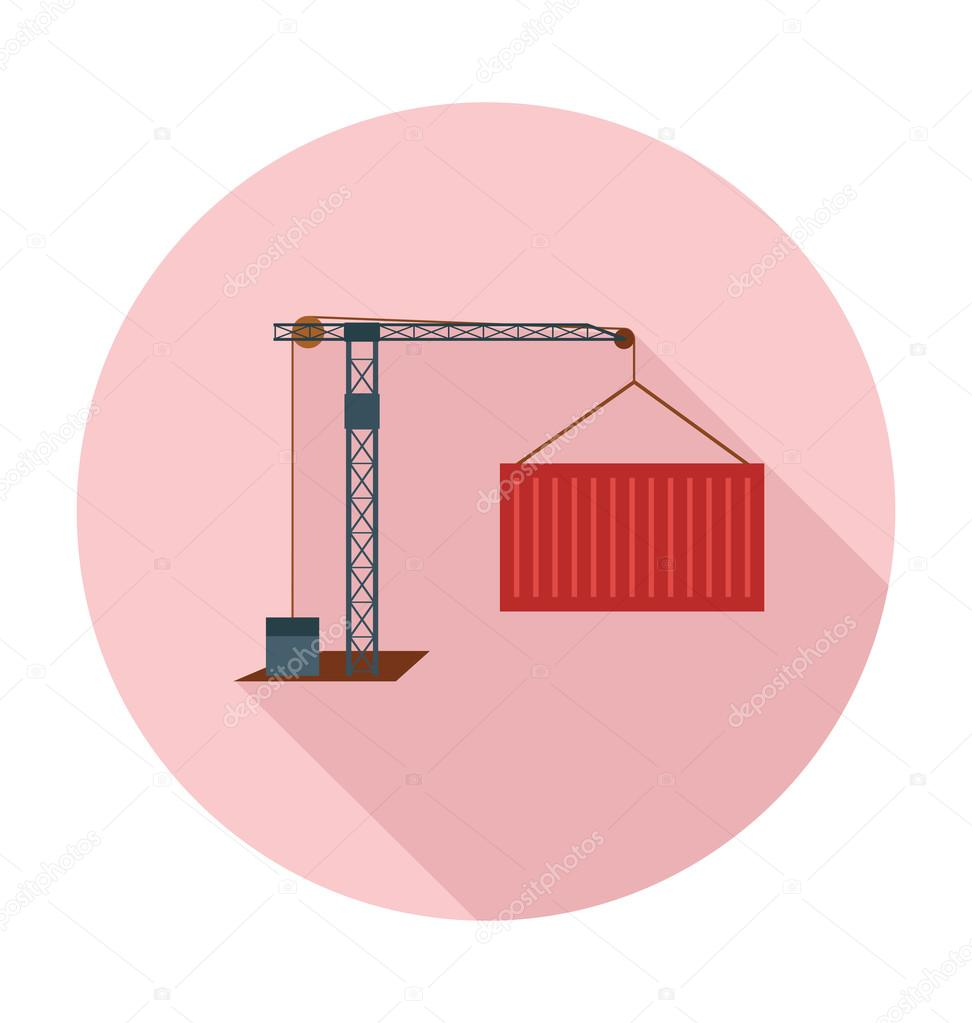 Container Lifter Colored Vector Illustration